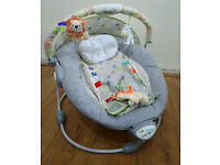 Baby bouncy chair with music and vibration
