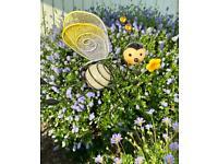 BEE INDOOR / OUTDOOR GLOW IN THE DARK DECOR FOR POTS OR FLOWER BORDERS ETC