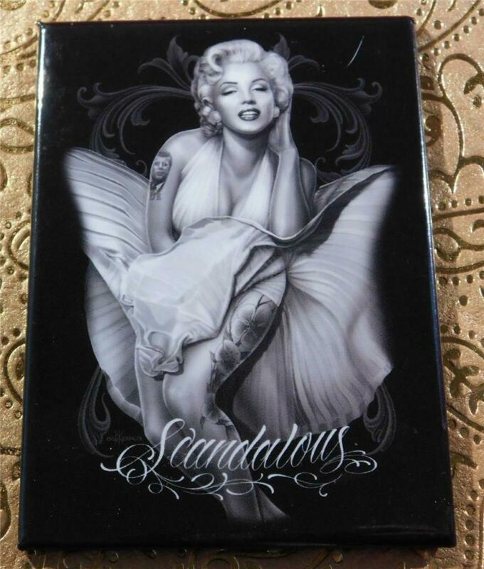 "Authorized David Gonzales Art Marilyn Monroe Refrigerator Magnet 3-1/2"" x 2-1/2"""