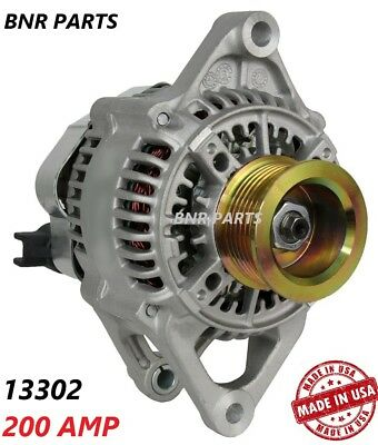 200 AMP 13302 ALTERNATOR DODGE RAM 5.9L DIESEL NEW High Output HD Performance