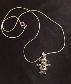 Sterling silver 'girl' necklace