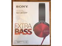 SONY MDR-XB450AP HEADPHONE.Brand new,never used,box only opened