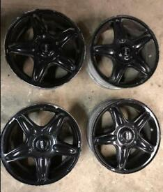 "Genuine Mini R56 BLASTER Alloy Wheels 16"" BLACK alloys BMW"