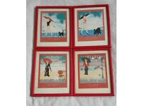 4x Jean Yarwood Pictures - Frame 27cm by 22cm