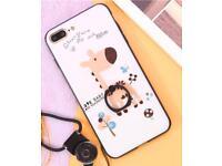 New iPhone 7 plus phone case , cute giraffe