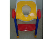 """Toddler Ladder Step Potty Training Toilet Seat with step """"small bottom adapter"""""""