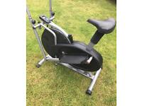 Compact 2 in 1 exercise bike & cross trainer