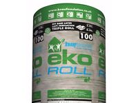 KNAUF EKO ROLL LOFT INSULATION, (L)7.28M (W)1140MM (T)100MM