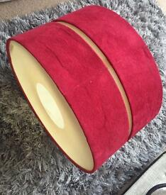 Red large lampshade