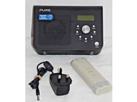 PURE ONE CLASSIC SERIES 2 DAB RADIO & UK MAINS PLUG & PURE C6L BATTERY 7.4 4000