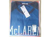 Official McLaren Est.1963 T-Shirt - Blue Grey Small + Gift Zip