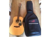 Acoustic Fender Guitar with case