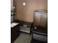 Mamas and Papas Nursery Furniture Set: Wardrobe + Cot bed + Dresser