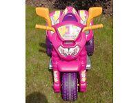 Battery Powered Pink Princess Sit N Ride Bike