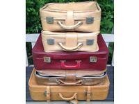 VINTAGE Soft Suitcase Job Lot x20 Film Theatre Prop Wedding Shop Display Storage