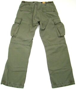 Nwt RRL Ralph Lauren Green Cargo Cotton Pants 29 x 32