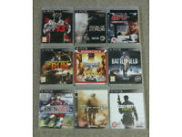 9 PS3 Playstation Games Bundle (Call Of Duty, UFC, WWE, Need For Speed, Battlefield, Saints Row)
