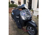 Piaggio Vespa GTS 125 CC - a classic bike, well maintained, MOT 27 Jan 2017, Metallic Blue