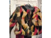 For sale fabulous girls faux fur Next jacket age 6 hardly worn