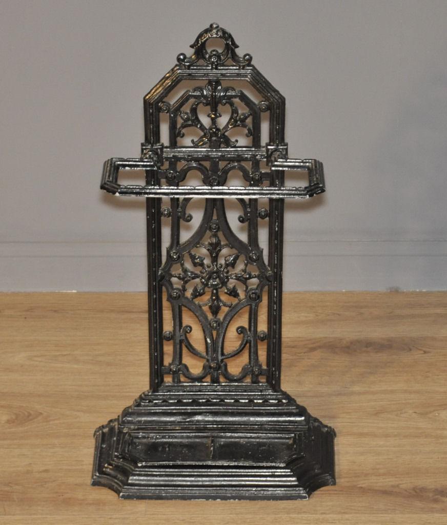 Attractive Small Antique Victorian Cast Iron Hall Stick Umbrella Stand