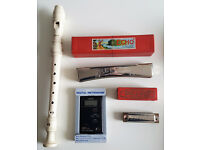 2 Vintage Harmonicas M.Hohner + Digital Metronome Seiko + Flute Yamaha