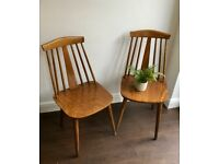 Ercol Style Vintage Chairs x 4