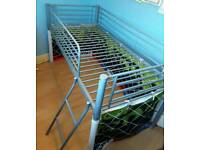 Metal frame mid sleeper bed