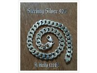 Solid Sterling Silver Curb Chain 122G