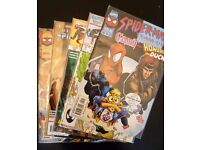 Grab bag of 5 collectible comic books. (Marvel team up/E.T.C.)