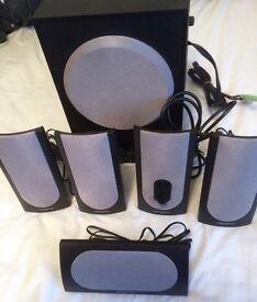 5.1 Speaker Sound System including Subwoofer (Creative SBS 580)