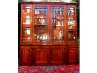 FINE GENUINE GEORGE 111 ANTIQUE FLAME MAHOGANY LIBRARY BOOKCASE GOOD CONDITION