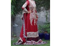 Asian, Pakistani, Indian, Bangladeshi red bridal dress
