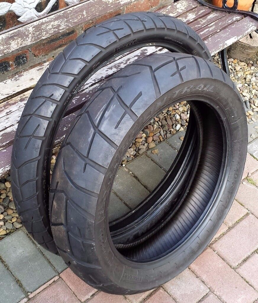 pirelli scorpion trail motorbike tyres in falkirk gumtree. Black Bedroom Furniture Sets. Home Design Ideas