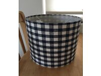 Blue and White Gingham Lampshade