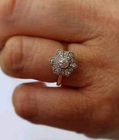 18ct Gold 0.39 carat Jenny Packham Dimond ring BRAND NEW
