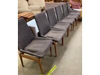 6 Robert Heritage Archie shine Retro mid century dining chairs