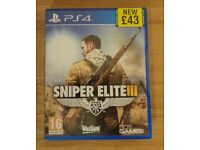 PS4 - Sniper Elite III - Pristine Condition.