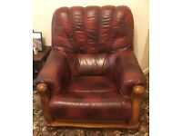 2 Leather Armchairs - Free to a Good Home
