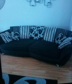 Large 4 seater and 2 seater sofs