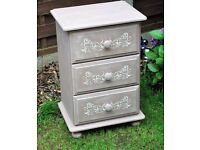 Chest Of Drawers - Shabby Chic - Annie Sloan French Linen & Scandinavian Pink
