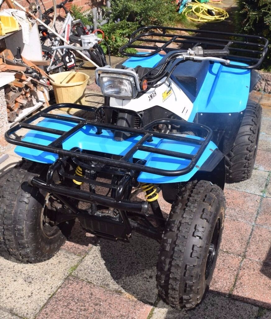 Quad Bike Yamaha Yfm200dx Complete With Snowplough Runs Well