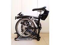 2016 Brompton M6R 6 Speed / Gear Folding Bike Dynamo Hub Lights Schwalbe Marathon...