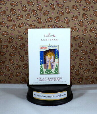 2018 Hallmark Nifty Fifties Keepsake Angel Tree Topper Christmas Ornament NEW