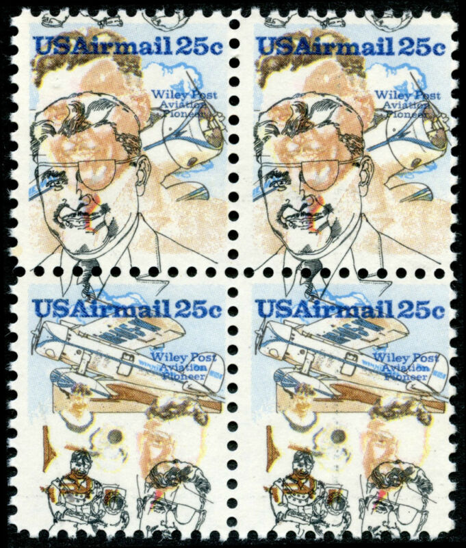 #c95-6 Var. Major Color Shift Error Block Of 4 Bm8190