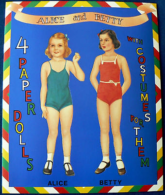 Alice and Betty Paper Dolls  Shackman