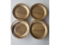 Tesco Gold Metallic Paper Plates 23cm. 12 Packs of 8 = 96 Plates - JOBLOT