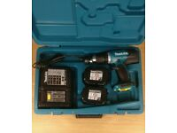 Makita Cordless 18 V Combi Drill Set with 2 Batteries, Charger and Heavy Duty Case