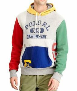 Ralph Lauren Polo Limited Edition Stadium Patchwork Pullover Fleece Hoodie
