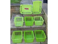 8 x Plastic Baskets