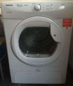 8kg Hoover condenser dryer 12 month warranty